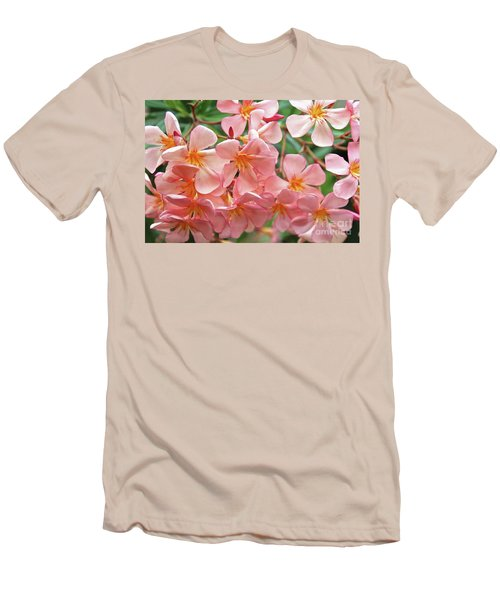 Men's T-Shirt (Slim Fit) featuring the photograph Oleander Dr. Ragioneri 5 by Wilhelm Hufnagl