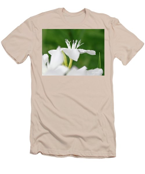 Men's T-Shirt (Slim Fit) featuring the photograph Oleander Ed Barr 1 by Wilhelm Hufnagl