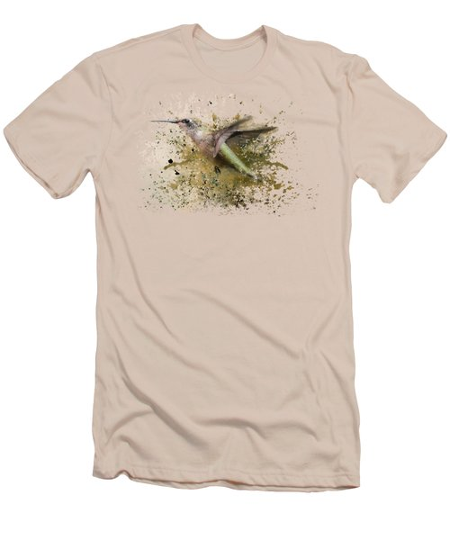 On The Fly Hummingbird Art Men's T-Shirt (Athletic Fit)