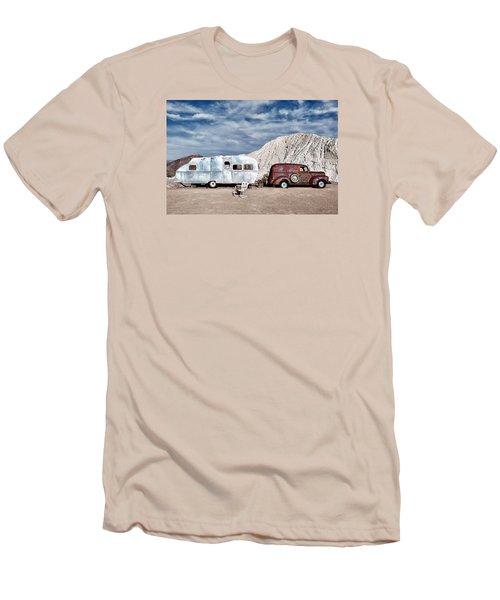 On The Road Again Men's T-Shirt (Slim Fit) by Renee Sullivan