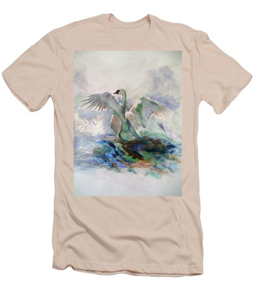 On The Water Men's T-Shirt (Slim Fit) by Khalid Saeed