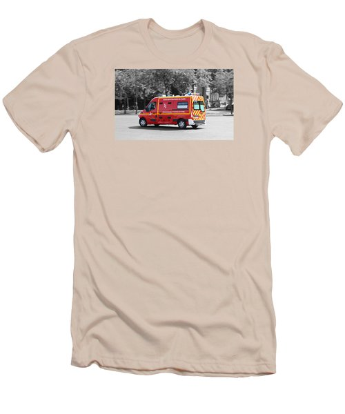 Men's T-Shirt (Slim Fit) featuring the photograph On The Way To Help by RKAB Works