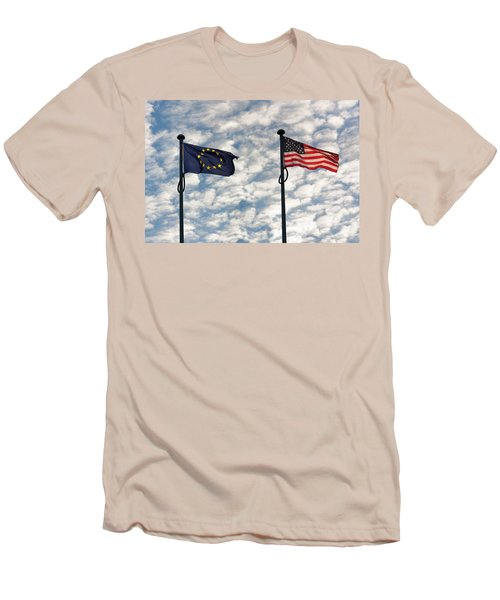 One World Men's T-Shirt (Slim Fit) by Semmick Photo