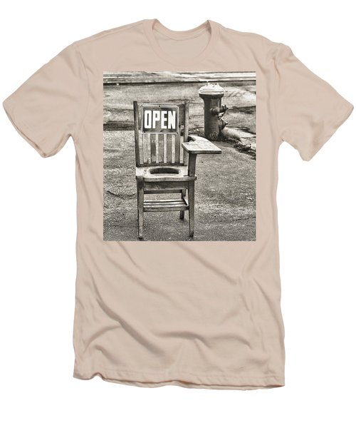 Open Men's T-Shirt (Slim Fit) by Jeffrey Jensen