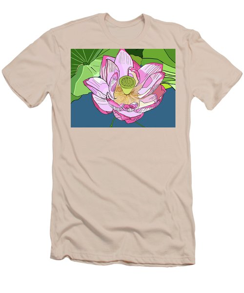 Open Lotus Men's T-Shirt (Athletic Fit)