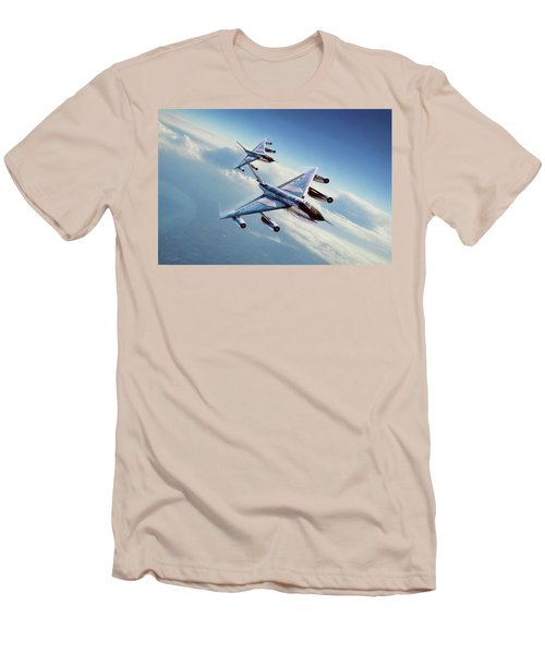 Men's T-Shirt (Slim Fit) featuring the digital art Operation Heat Rise by Peter Chilelli