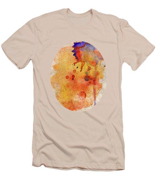 Orange Color Splash Men's T-Shirt (Athletic Fit)