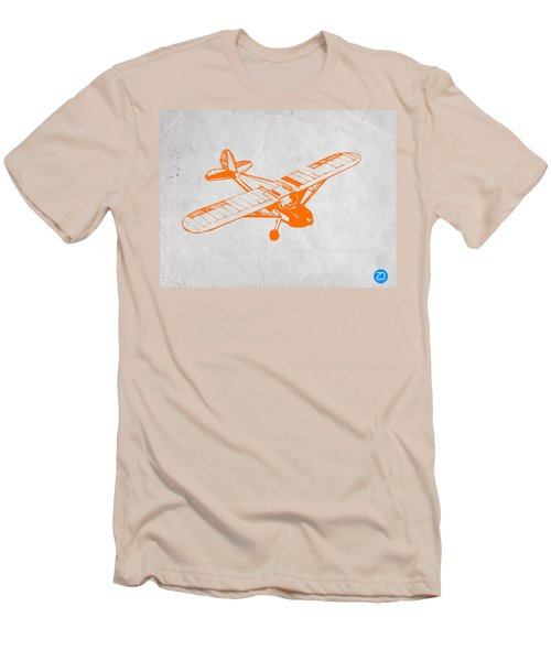 Orange Plane 2 Men's T-Shirt (Slim Fit) by Naxart Studio