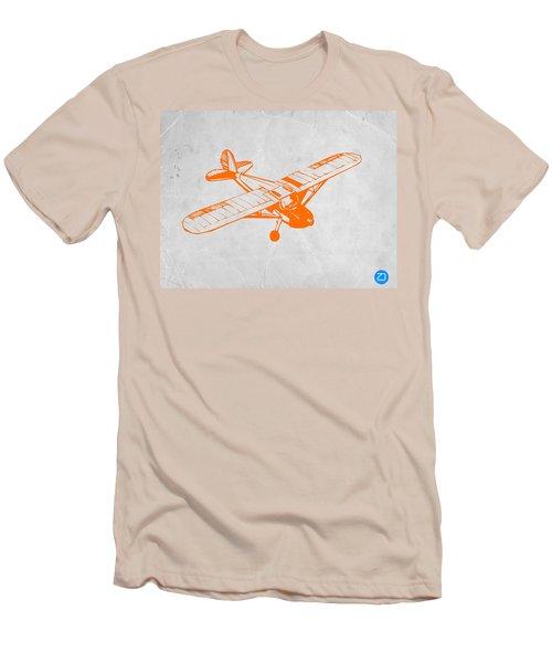 Orange Plane 2 Men's T-Shirt (Slim Fit) by Naxart Studio