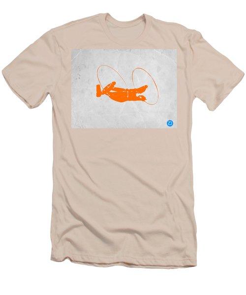 Orange Plane Men's T-Shirt (Athletic Fit)