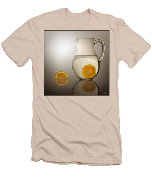 Men's T-Shirt (Slim Fit) featuring the photograph Oranges And Water Pitcher by Joe Bonita