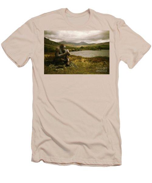 Orangutan With Smart Phone Men's T-Shirt (Athletic Fit)