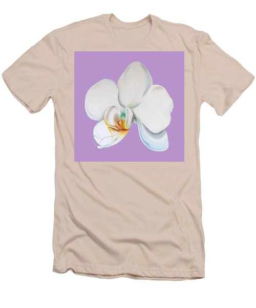 Men's T-Shirt (Athletic Fit) featuring the digital art Orchid On Lilac by Elizabeth Lock