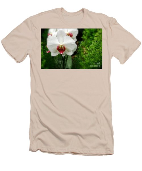 Orchid White Men's T-Shirt (Slim Fit) by Brian Jones