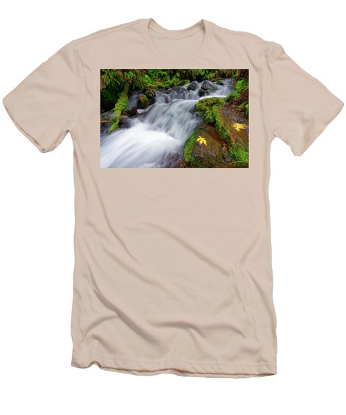 Oregon Cascade Men's T-Shirt (Slim Fit) by Jonathan Davison