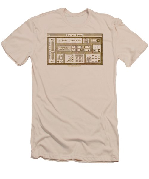 Original Mac Computer Control Panel Circa 1984 Men's T-Shirt (Slim Fit) by Design Turnpike