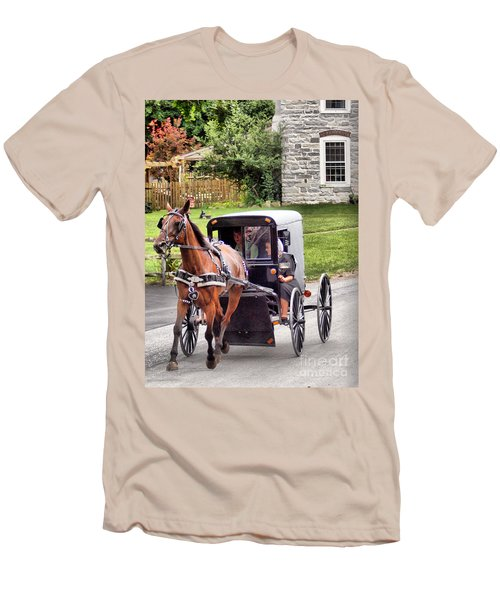 Men's T-Shirt (Slim Fit) featuring the photograph Ornery by Polly Peacock