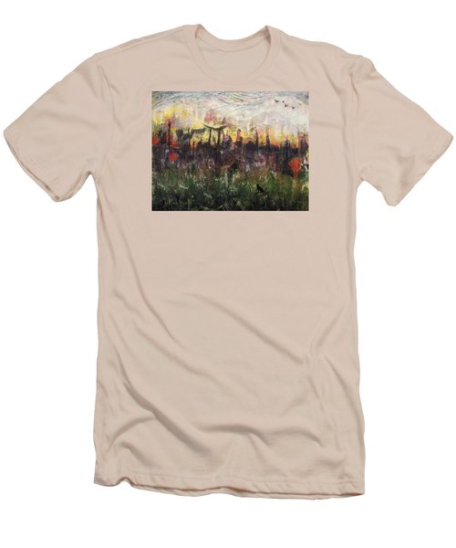 Other World 2 Men's T-Shirt (Slim Fit) by Ron Richard Baviello