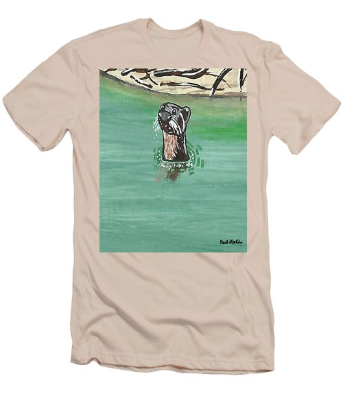Otter In Amazon River Men's T-Shirt (Athletic Fit)