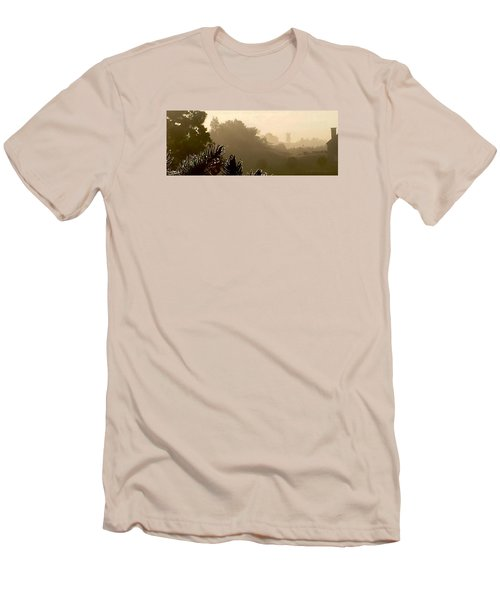Out The Front Door Men's T-Shirt (Slim Fit) by Steven Lebron Langston