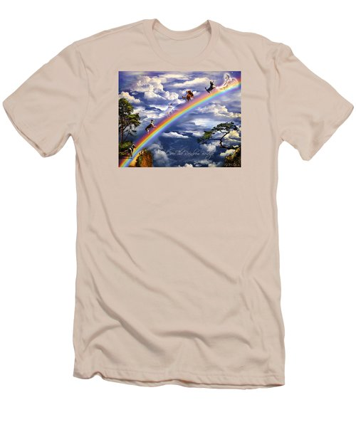 Over The Rainbow Bridge Men's T-Shirt (Athletic Fit)