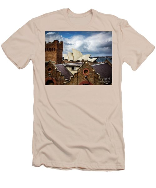 Men's T-Shirt (Slim Fit) featuring the photograph Over The Roof Tops by Perry Webster