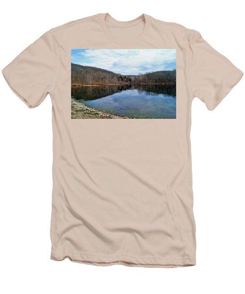 Men's T-Shirt (Slim Fit) featuring the photograph Painted Rock Conservation Area by Cricket Hackmann