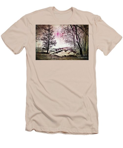 Men's T-Shirt (Slim Fit) featuring the photograph Painted Trees by Judy Wolinsky