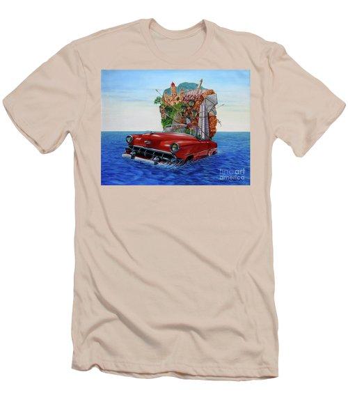 Paisaje Pasado Por Agua Men's T-Shirt (Slim Fit) by Jorge L Martinez Camilleri