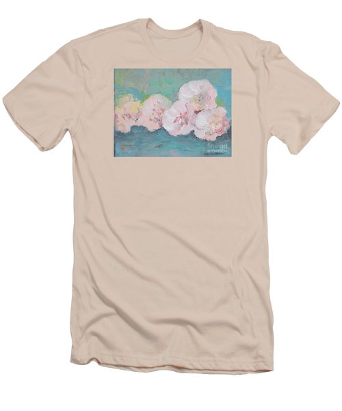 Pale Pink Peonies Men's T-Shirt (Athletic Fit)