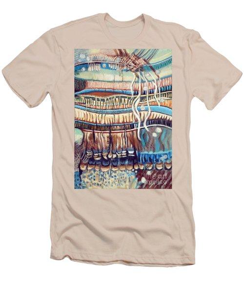 Palm Contractions Men's T-Shirt (Slim Fit) by Kerryn Madsen-Pietsch