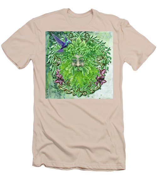 Men's T-Shirt (Slim Fit) featuring the digital art Pan The Protector by Angela Hobbs