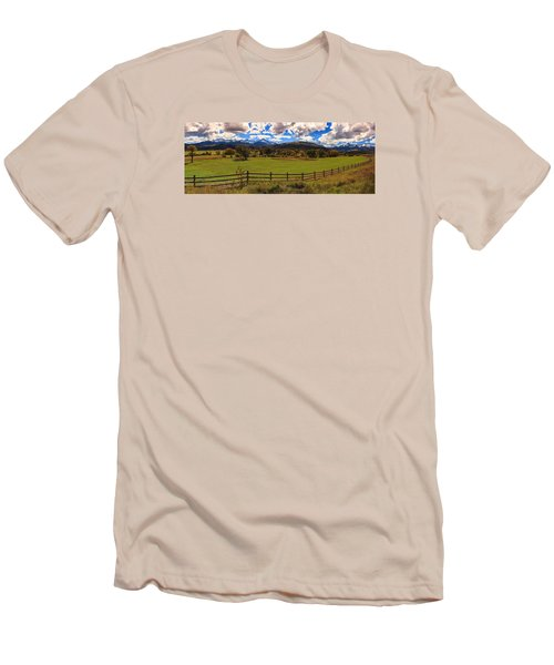 View Of The San Juans Men's T-Shirt (Slim Fit) by Rick Furmanek