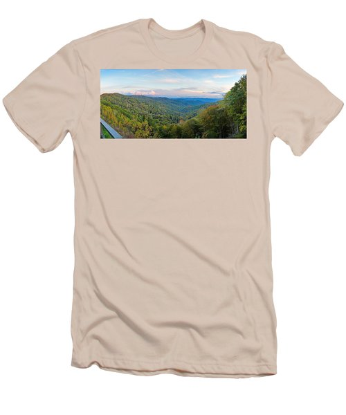 Panoramic October Views Of Smokey Mountain National Park Men's T-Shirt (Athletic Fit)