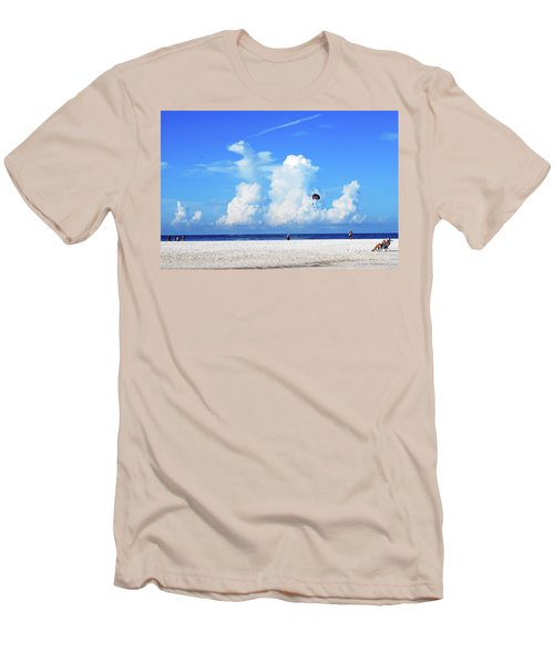 Men's T-Shirt (Athletic Fit) featuring the photograph Para Sailing On Siesta Key by Gary Wonning