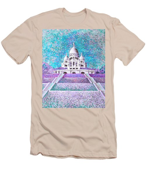 Men's T-Shirt (Athletic Fit) featuring the mixed media Paris II by Elizabeth Lock