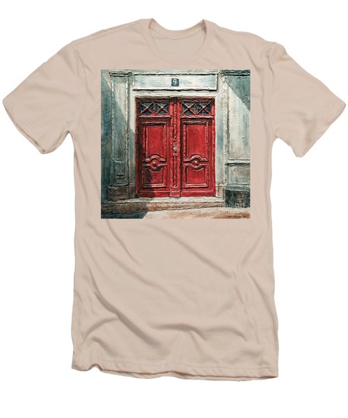 Parisian Door No.9 Men's T-Shirt (Athletic Fit)