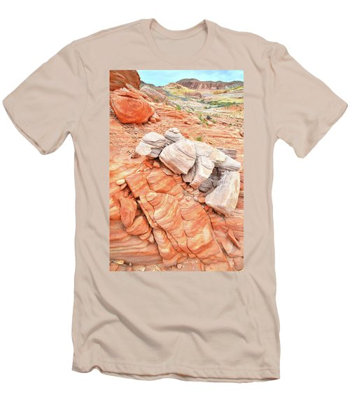 Men's T-Shirt (Slim Fit) featuring the photograph Park Road Sandstone In Valley Of Fire by Ray Mathis