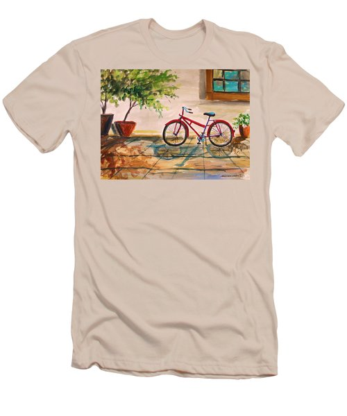 Parked In The Courtyard Men's T-Shirt (Athletic Fit)