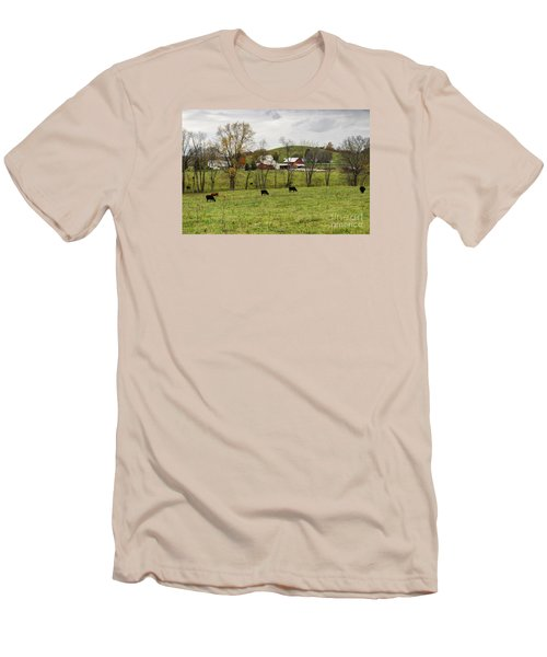 Men's T-Shirt (Slim Fit) featuring the photograph Pastoral by Larry Ricker