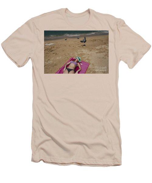 Men's T-Shirt (Slim Fit) featuring the photograph Pattaya Beach by Setsiri Silapasuwanchai