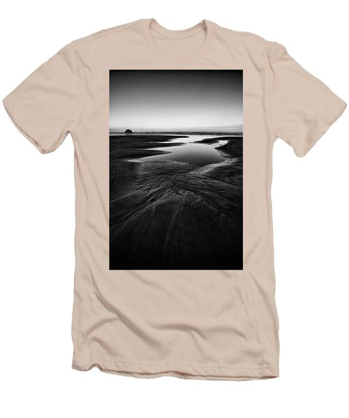 Men's T-Shirt (Slim Fit) featuring the photograph Patterns In The Sand by Jon Glaser