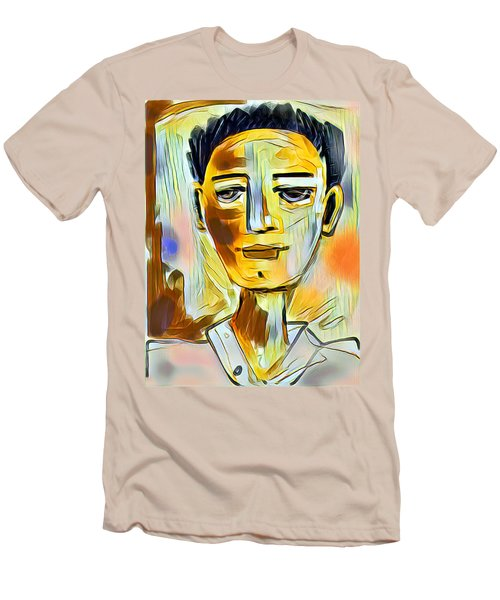 Pauls Portrait Men's T-Shirt (Slim Fit) by Elaine Lanoue