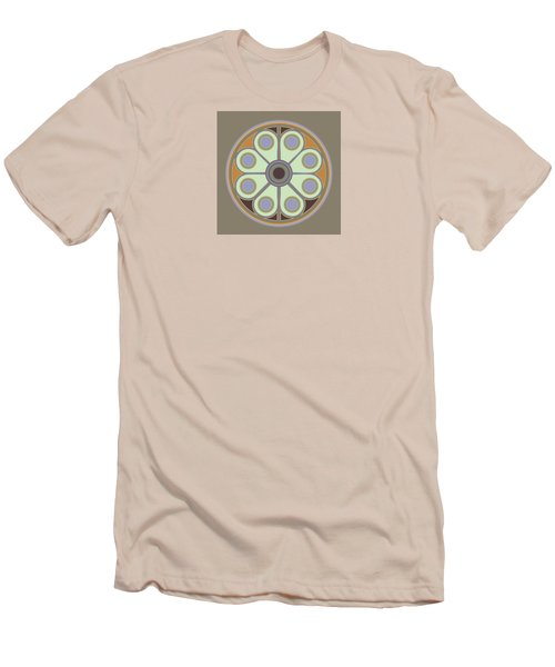 Peace Flower Circle Men's T-Shirt (Athletic Fit)