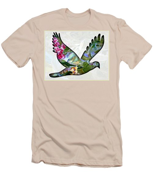 Peace For Peace Men's T-Shirt (Slim Fit) by Mindy Newman