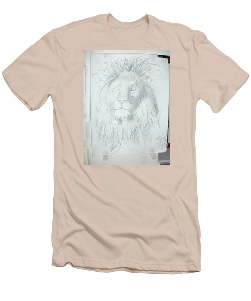 Men's T-Shirt (Slim Fit) featuring the drawing Peace In The Valley by Sharyn Winters