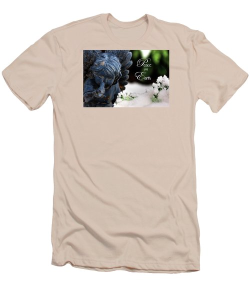 Men's T-Shirt (Slim Fit) featuring the photograph Peace On Earth Angel by Shelley Neff
