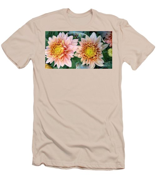 Peachy Chrysanthemums Men's T-Shirt (Athletic Fit)