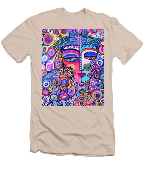 Peacock Pink Butterfly Goddess Men's T-Shirt (Athletic Fit)