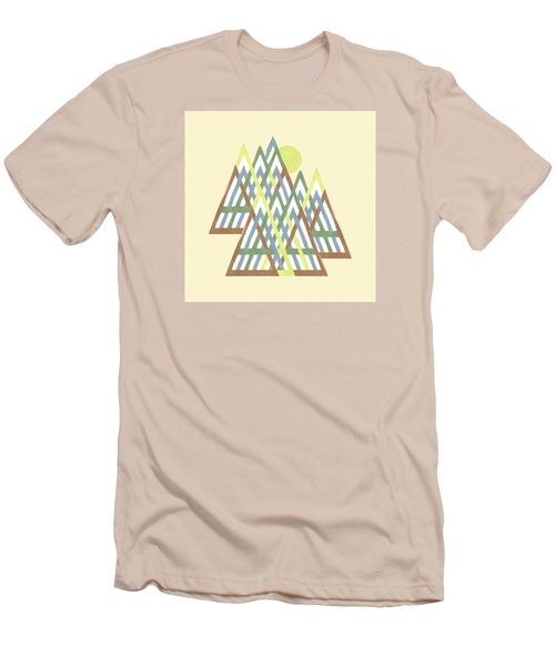 Men's T-Shirt (Slim Fit) featuring the digital art Peak Peek by Deborah Smith